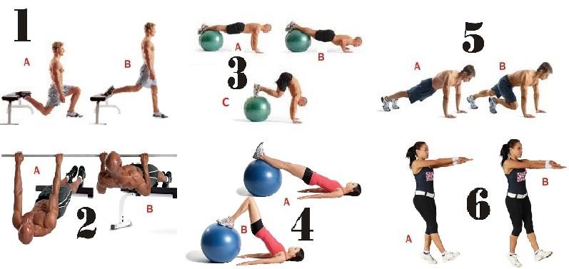 Circuito Na Academia : Circuito com o peso corporal ª opção daily personal