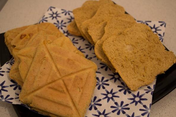 Pão de farinha de aveia e farinha de arroz